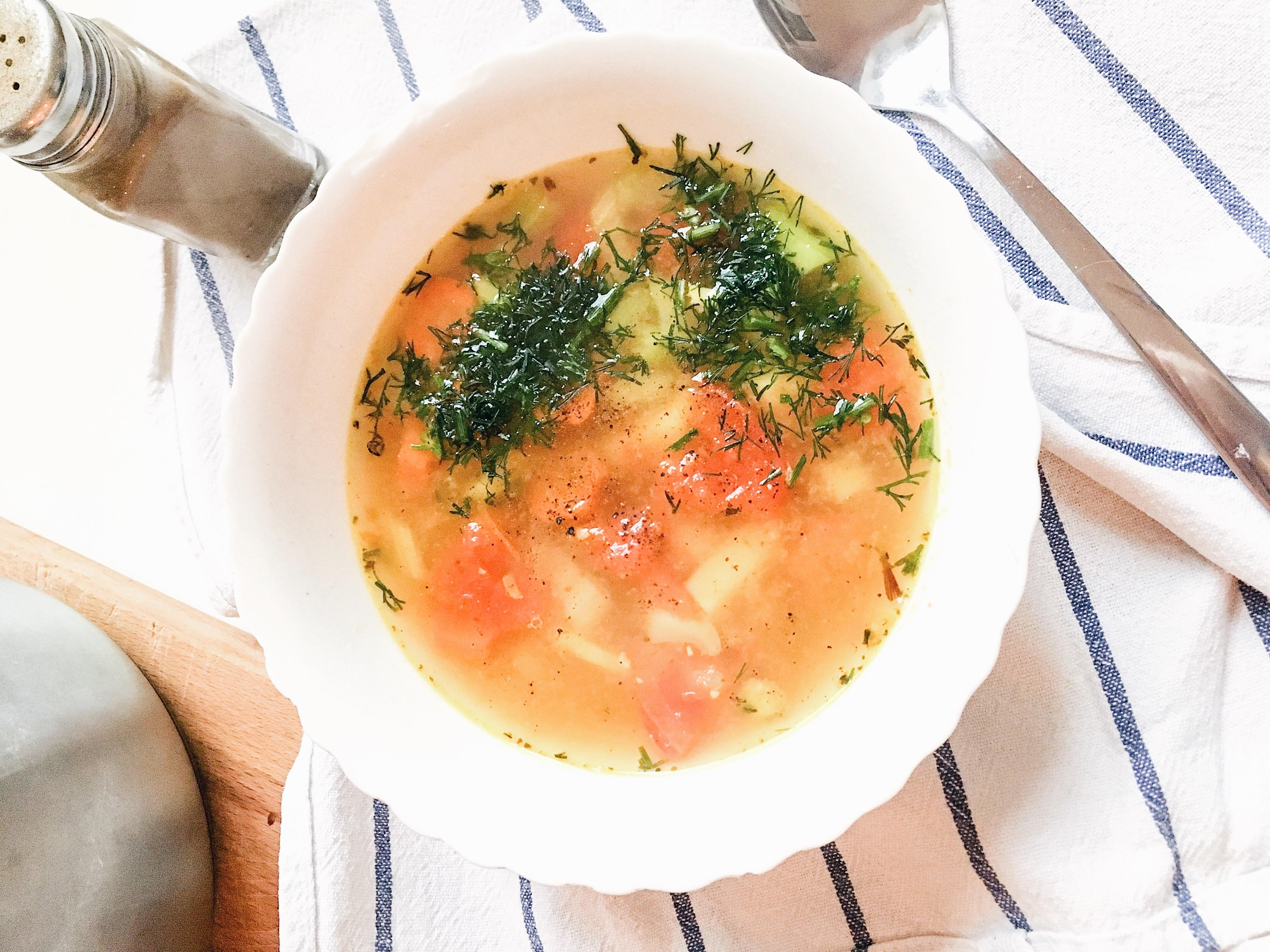 dietetyczna zupa rybna
